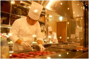 響 赤坂 オープンキッチン